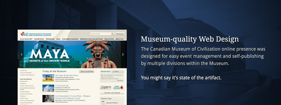 Museum-quality Web Design
