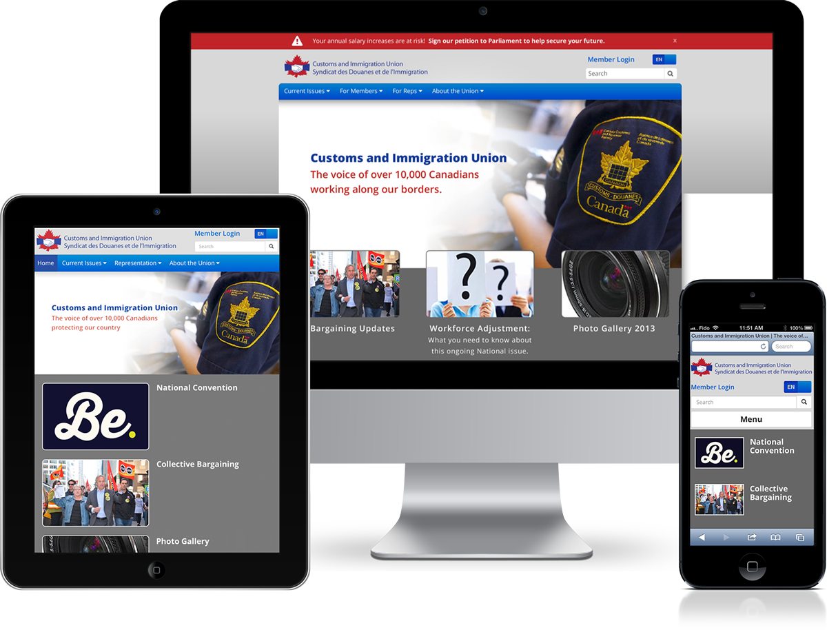 Customs and Immigration Union Web Design